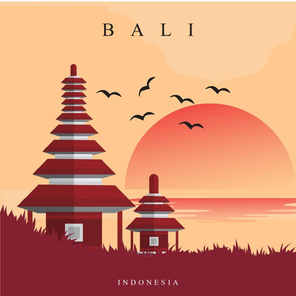 Poster du lịch Bali