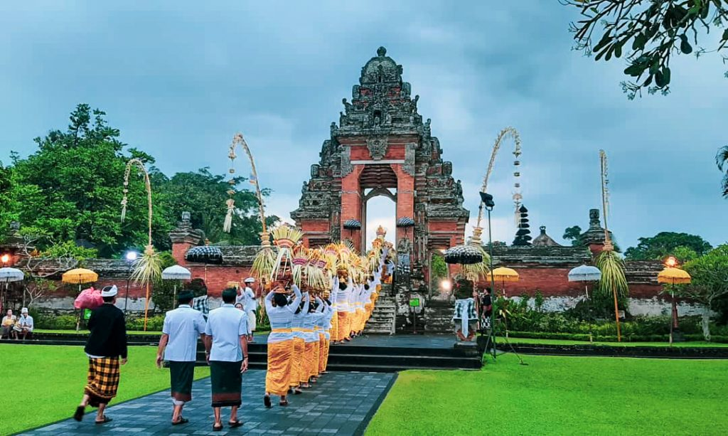 Lễ hội tại đền Taman Ayun Bali