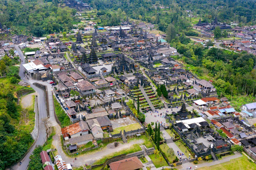 Đền Pura Besakih Bali nhìn từ trên cao
