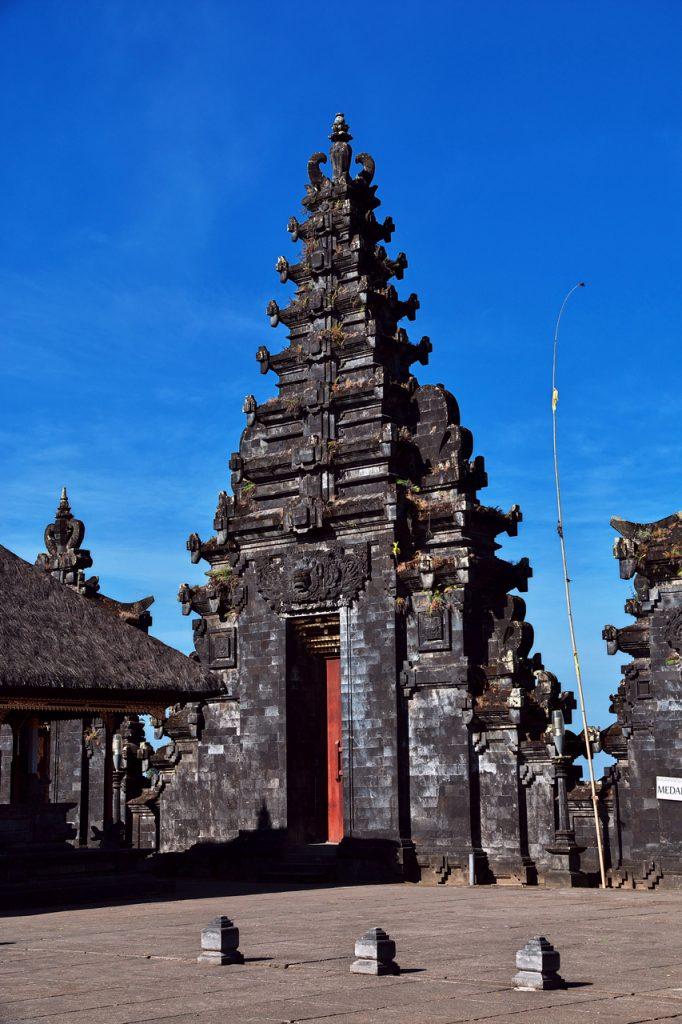Kiến trúc một ngọn tháp nhỏ ở đền Pura Besakih Bali